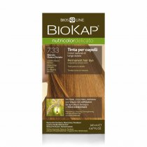 BIOKAP NUTRICOLOR DELICATO Farba do włosów Kolor 7.33 Pozłacany Blond 140 ml