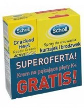 SCHOLL Zestaw Spray do usuwania kurzajek i brodawek 80 ml + SCHOLL Active Repair Active K 60 ml