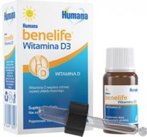 HUMANA BENELIFE Witamina D3 płyn 5 ml